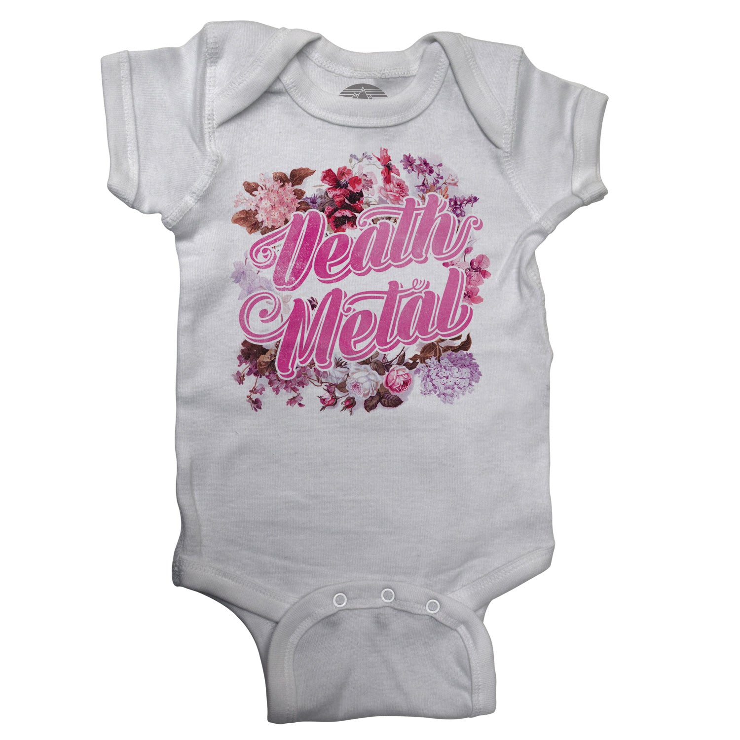 Funny Floral Death Metal Infant Bodysuit - Unisex Fit
