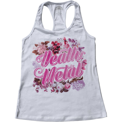 Women's Funny Floral Death Metal Racerback Tank Top