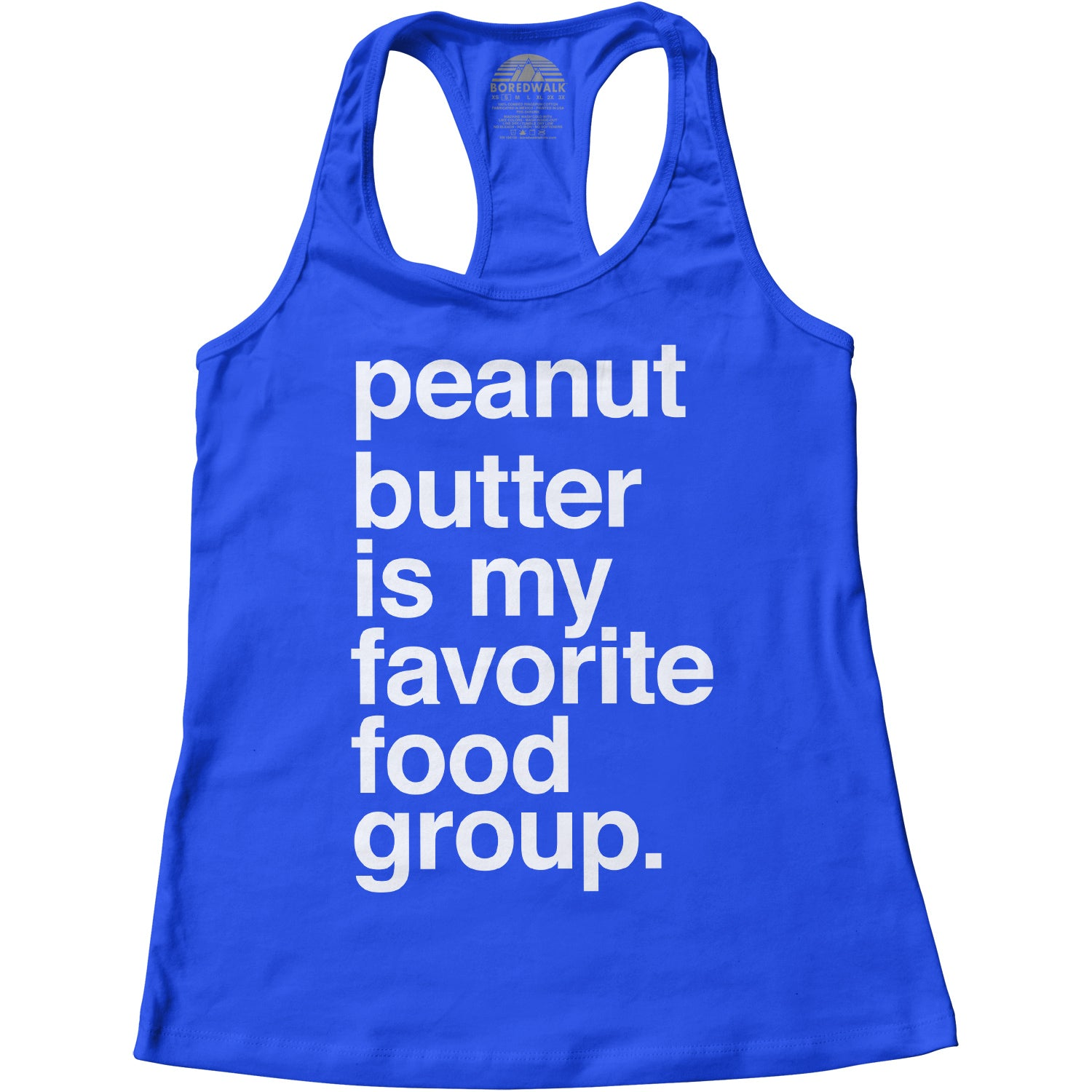 Women's Peanut Butter is My Favorite Food Group Racerback Tank Top