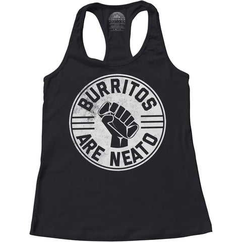 Women's Burritos Are Neato Racerback Tank Top