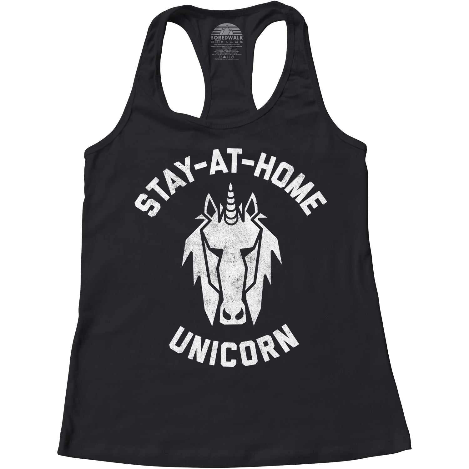 Women's Stay at Home Unicorn Racerback Tank Top