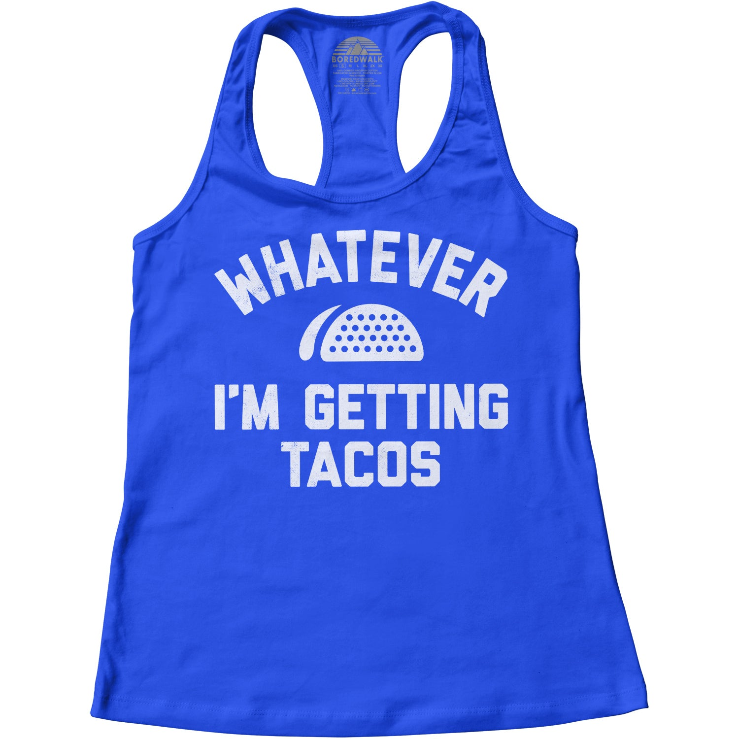 Women's Whatever I'm Getting Tacos Racerback Tank Top