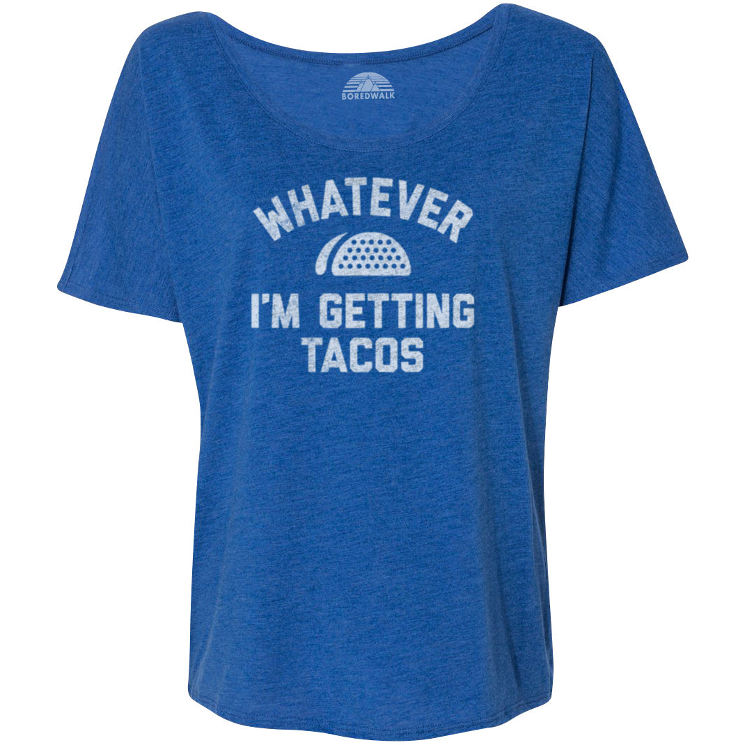 Women's Whatever I'm Getting Tacos Scoop Neck T-Shirt