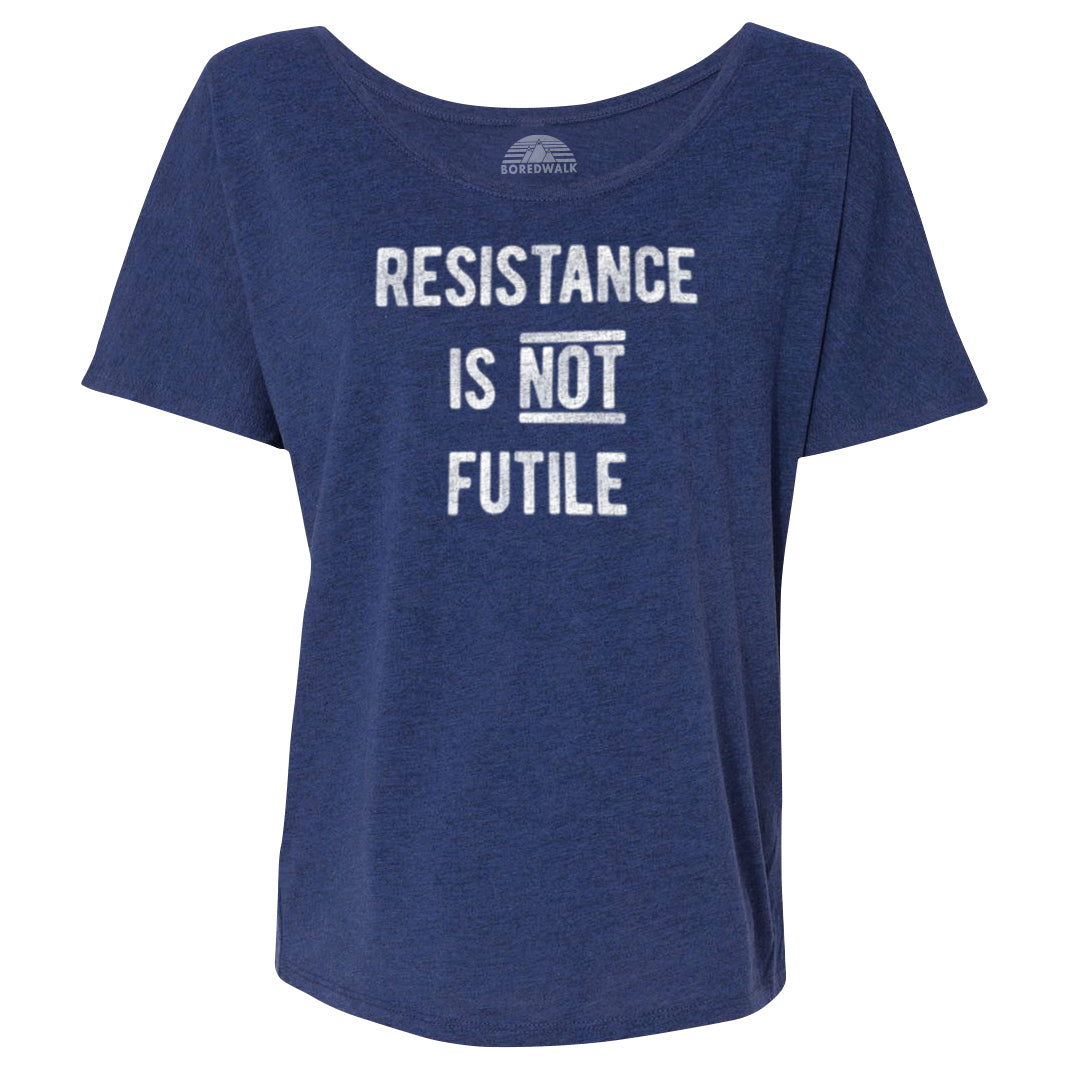 Women's Resistance is Not Futile Scoop Neck T-Shirt
