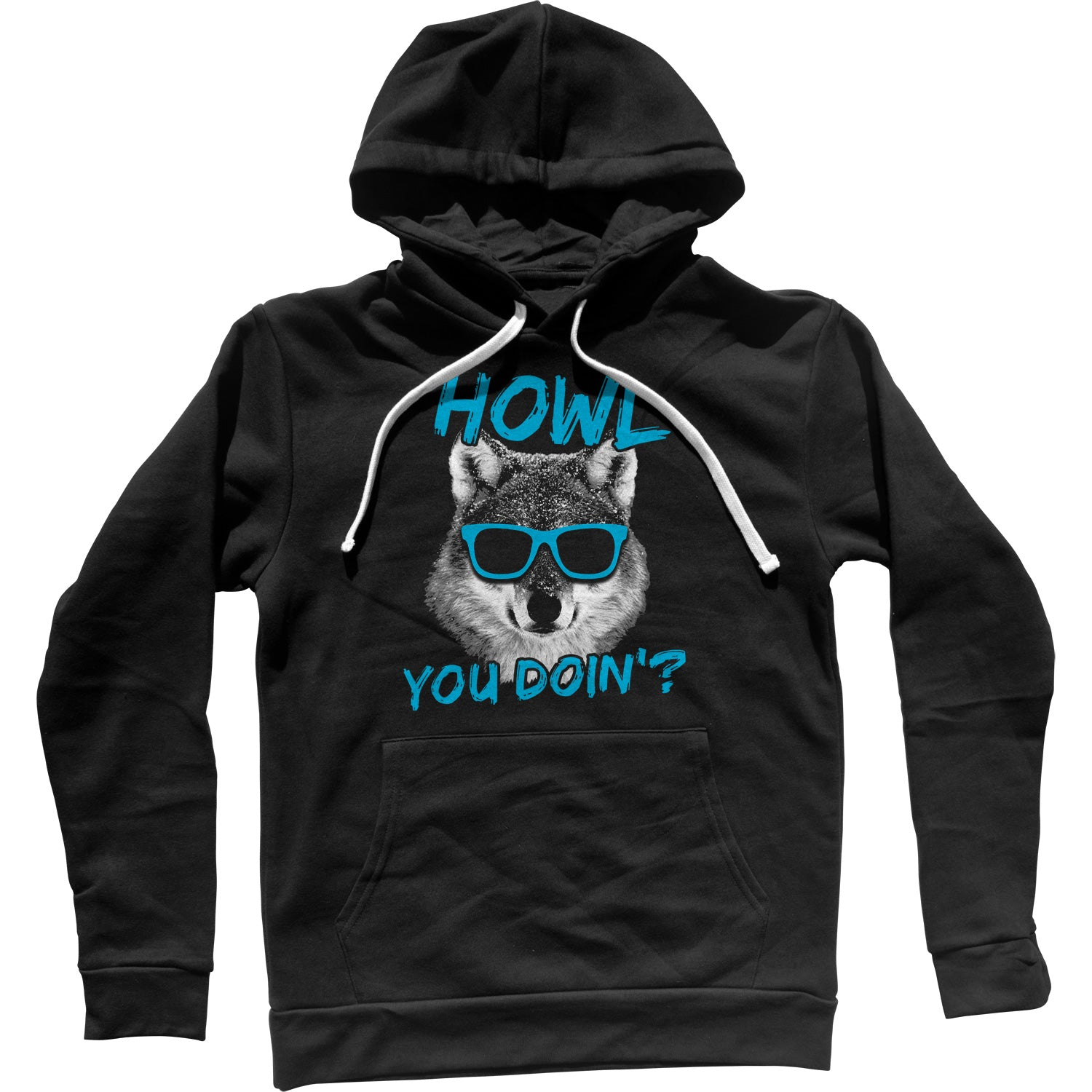 Howl You Doin Funny Wolf Unisex Hoodie