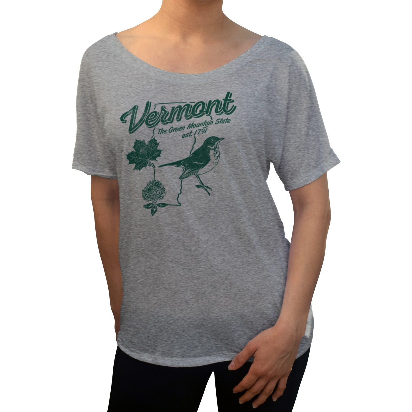 Women's Vintage Vermont Scoop Neck T-Shirt