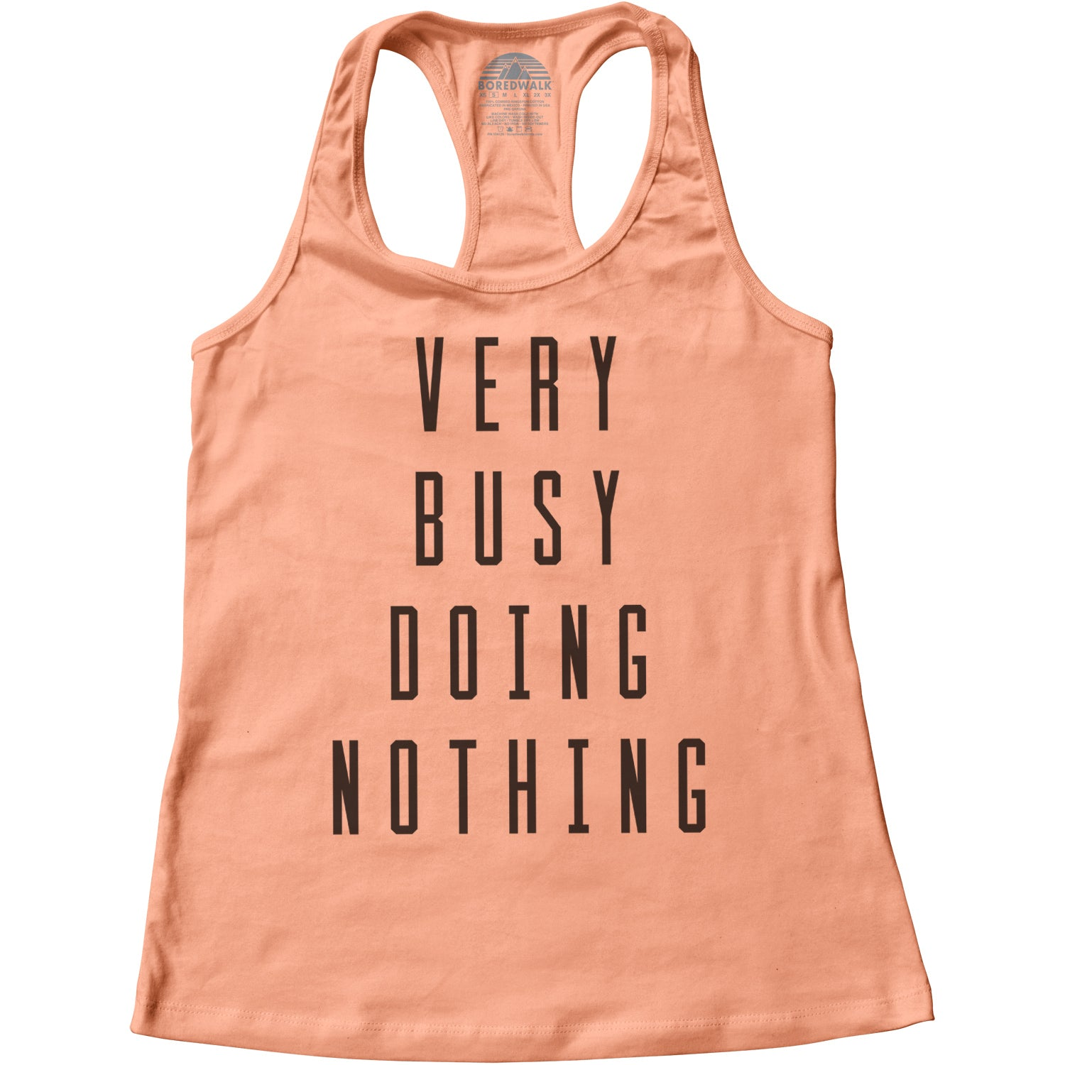 Women's Very Busy Doing Nothing Racerback Tank Top