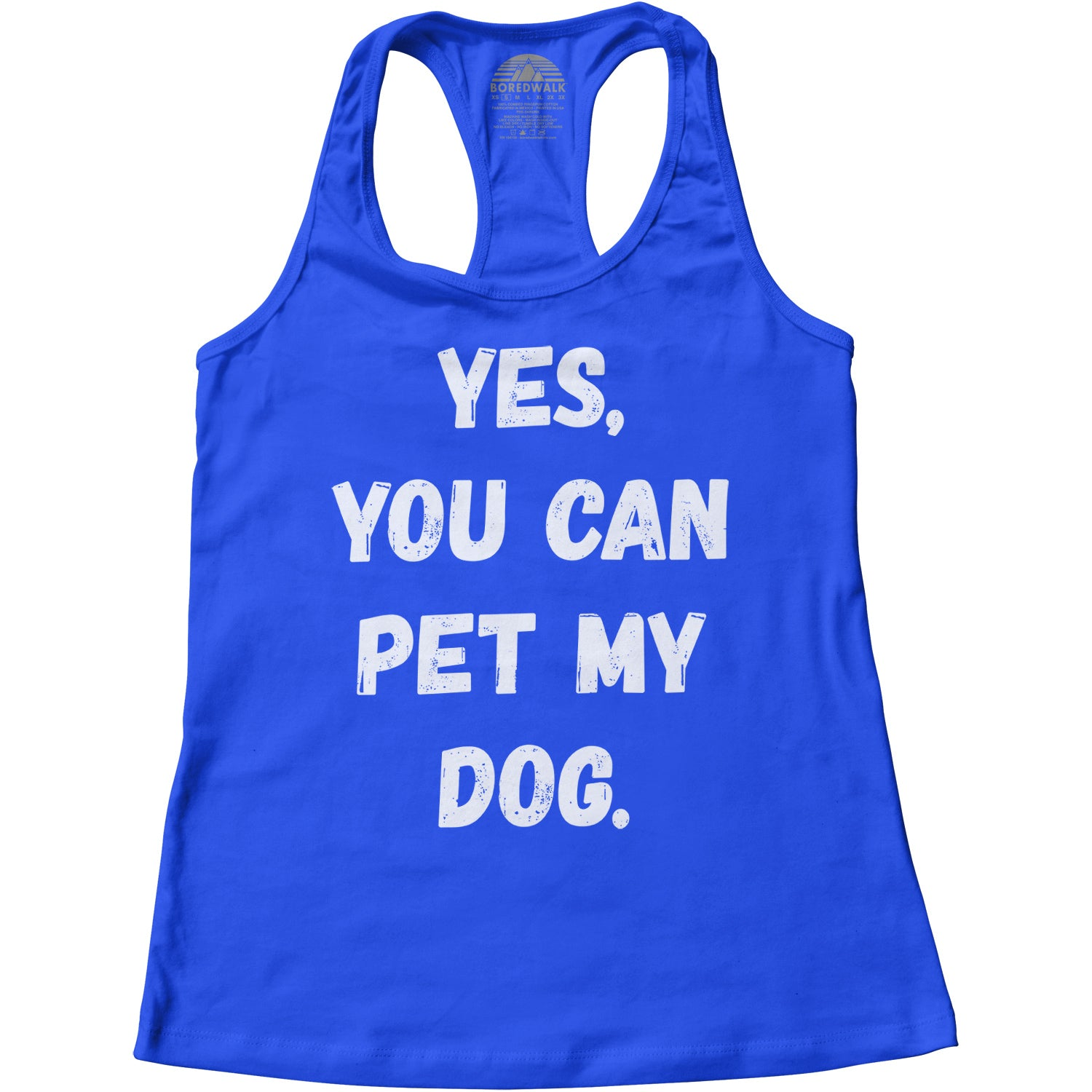 Women's Yes You Can Pet My Dog Racerback Tank Top