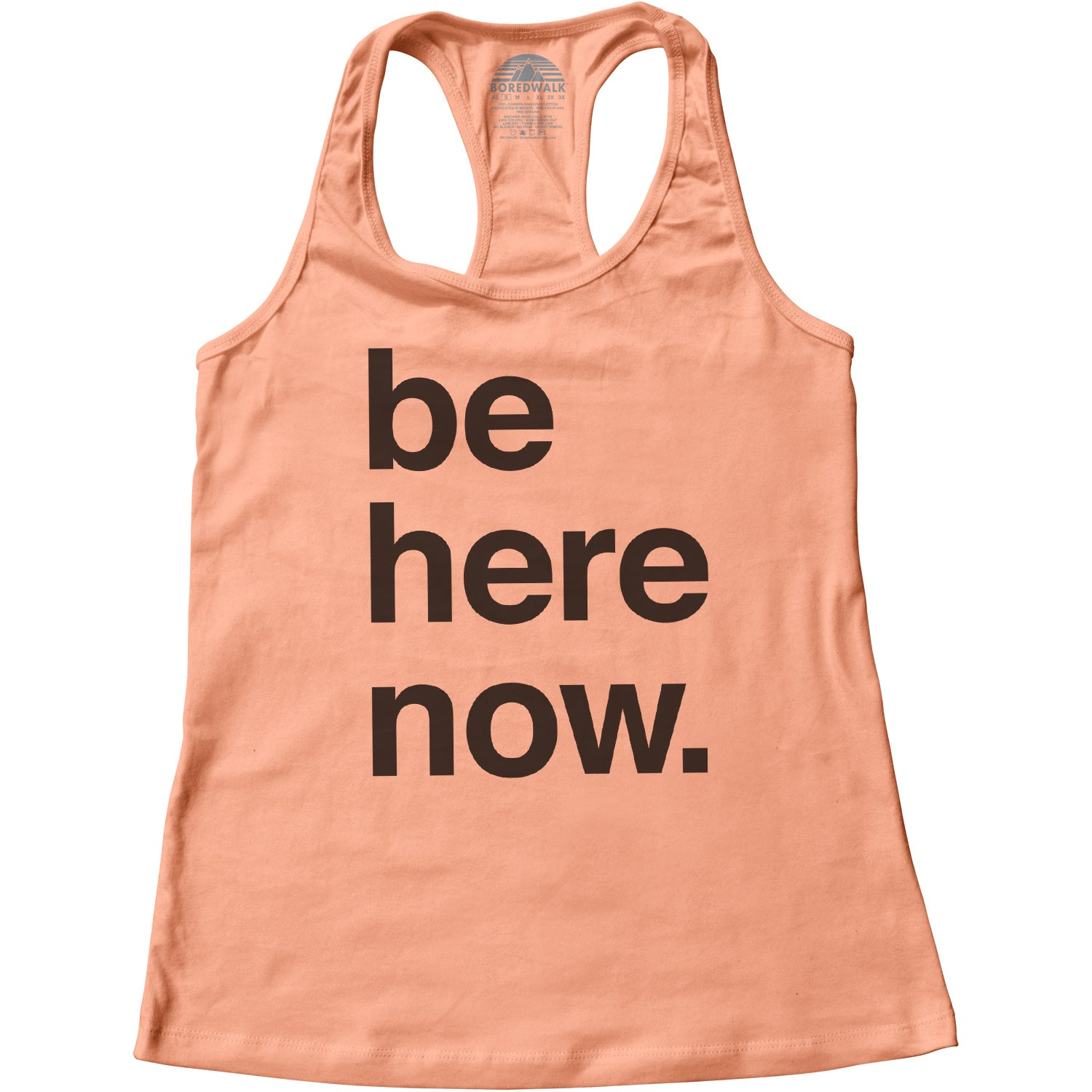 Women's Be Here Now Racerback Tank Top
