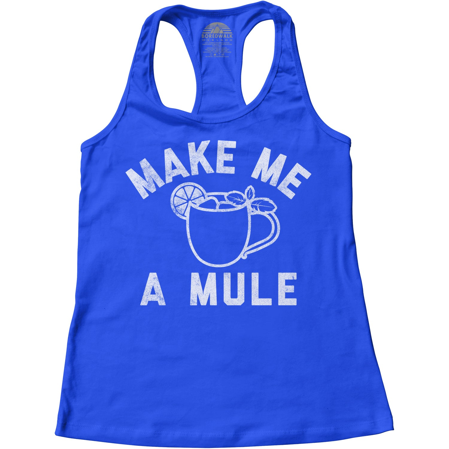 Women's Make Me a Moscow Mule - Funny Drinking Shirt Racerback Tank Top