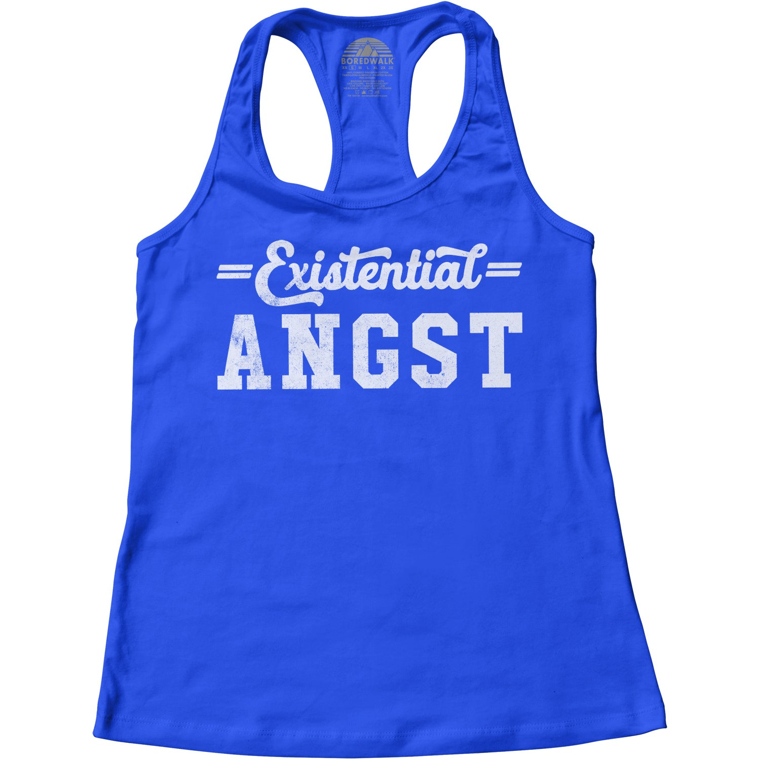 Women's Existential Angst Racerback Tank Top