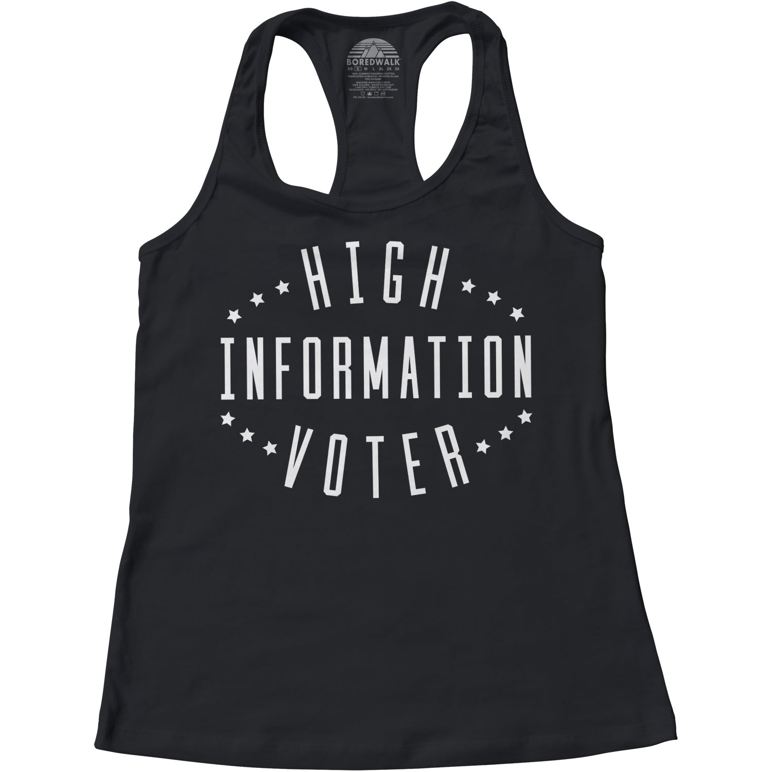 Women's High Information Voter Racerback Tank Top