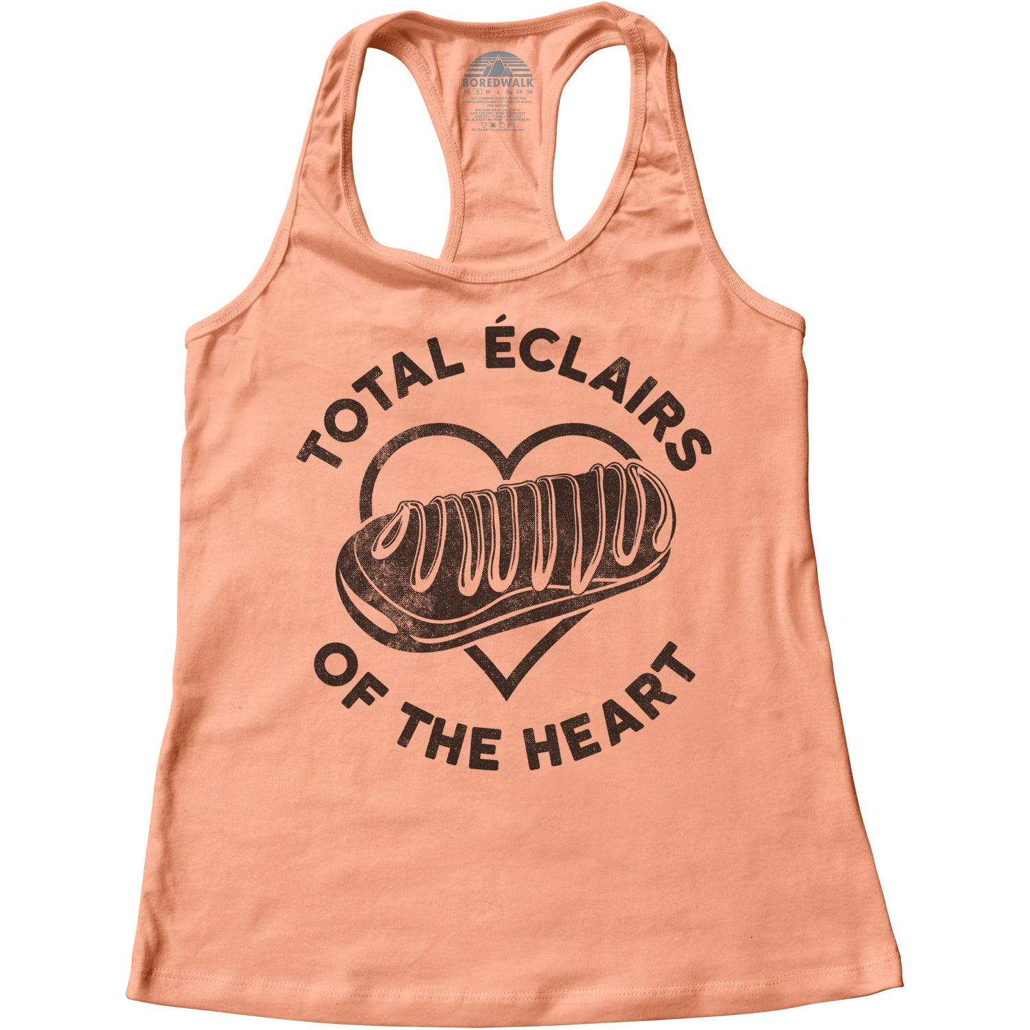 Women's Total Eclairs of the Heart Donut Shirt Racerback Tank Top