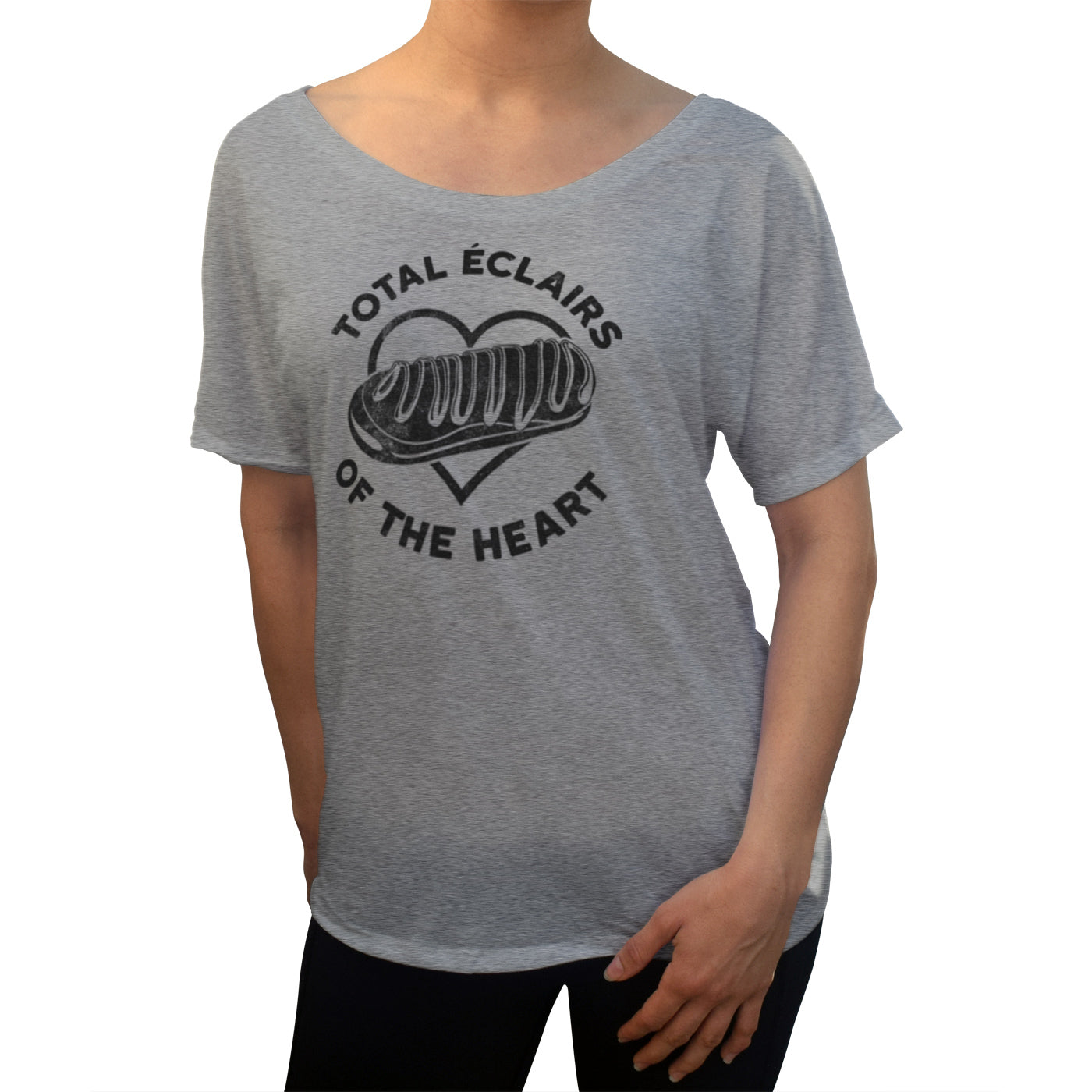 Women's Total Eclairs of the Heart Donut Shirt Scoop Neck T-Shirt