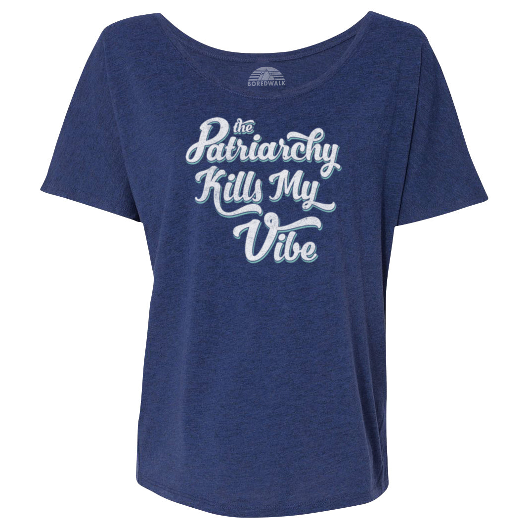 Women's The Patriarchy Kills My Vibe Feminist Scoop Neck T-Shirt