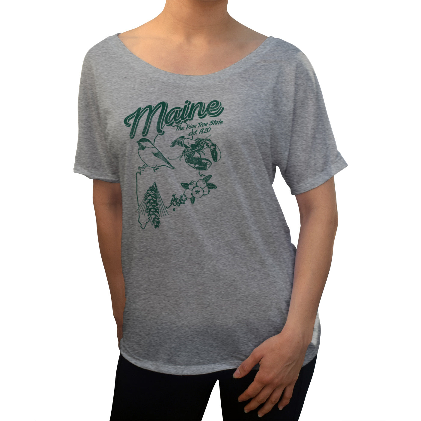 Women's Vintage Maine Scoop Neck T-Shirt