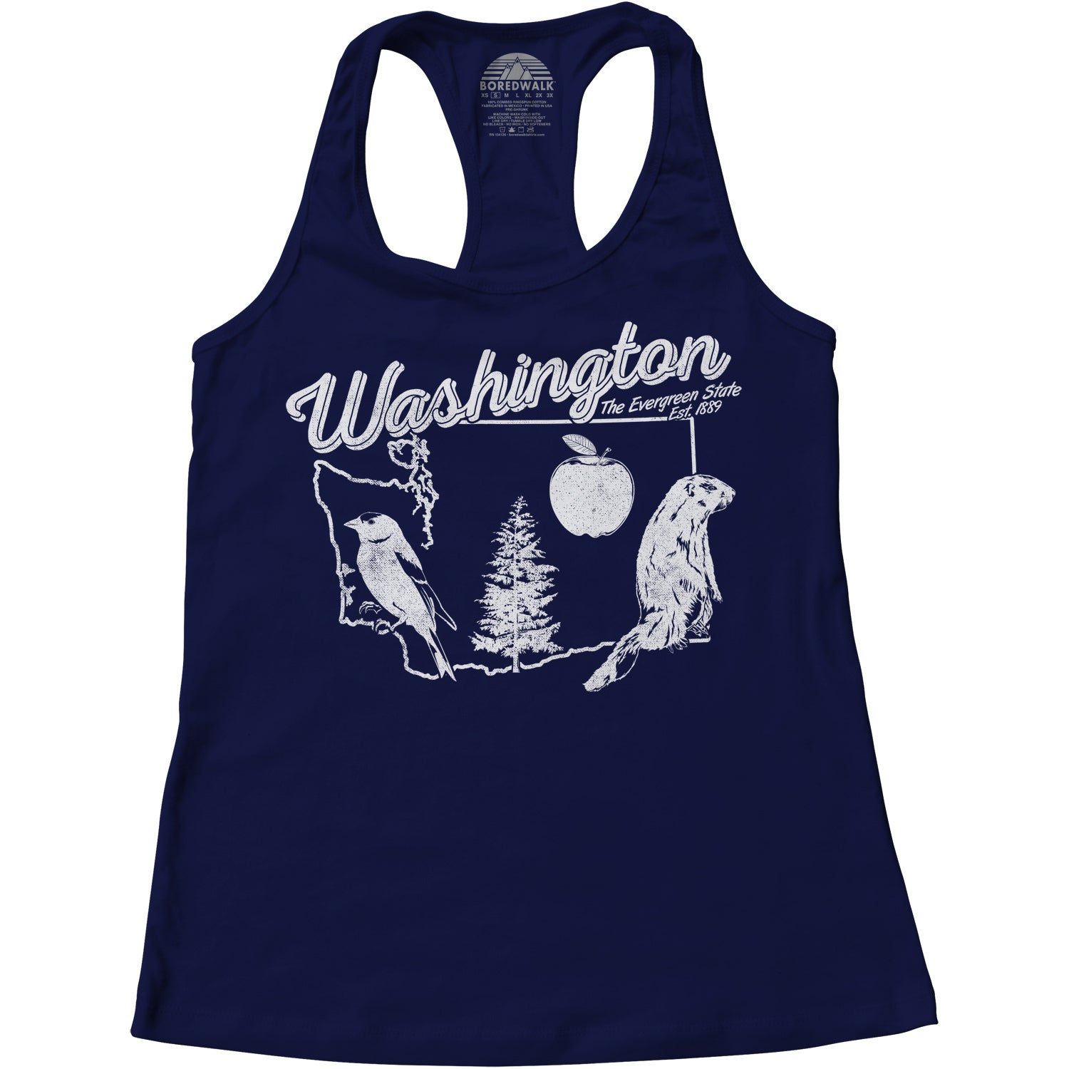 Women's Vintage Washington Racerback Tank Top