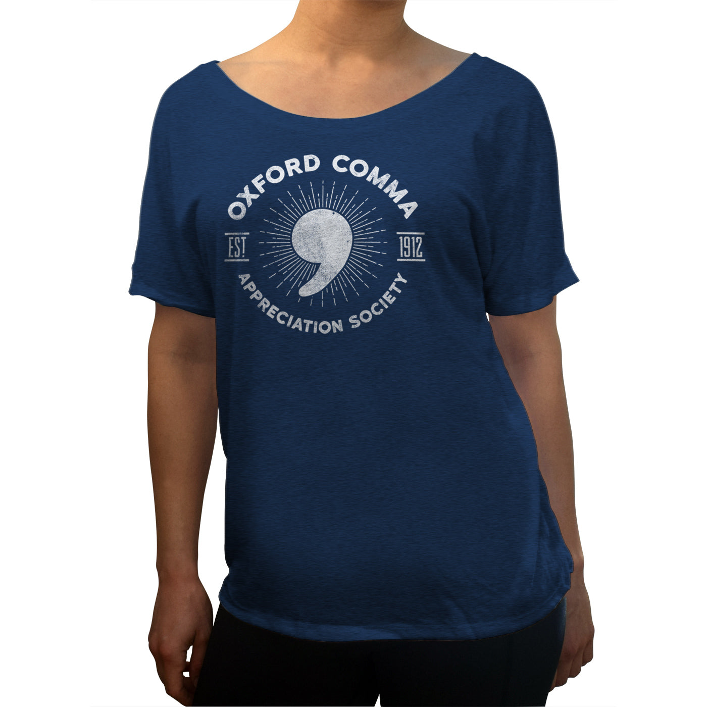 Women's Oxford Comma Appreciation Society Scoop Neck T-Shirt