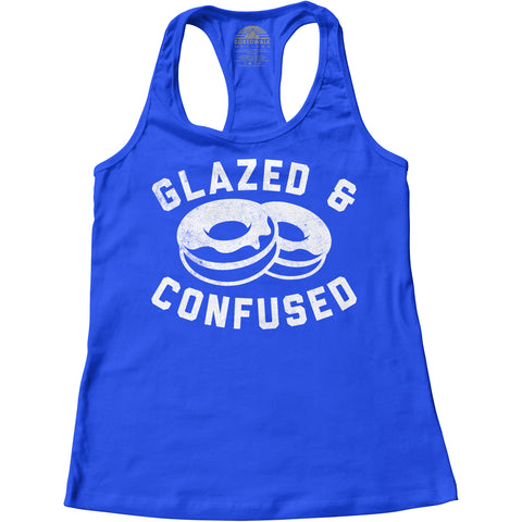 Women's Glazed and Confused Donut Racerback Tank Top