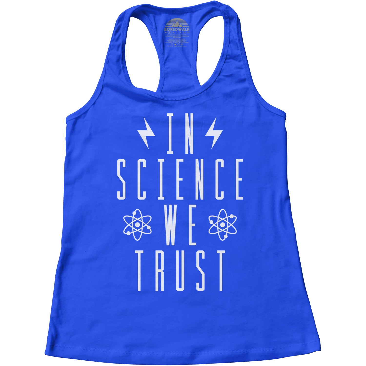 Women's In Science We Trust Racerback Tank Top