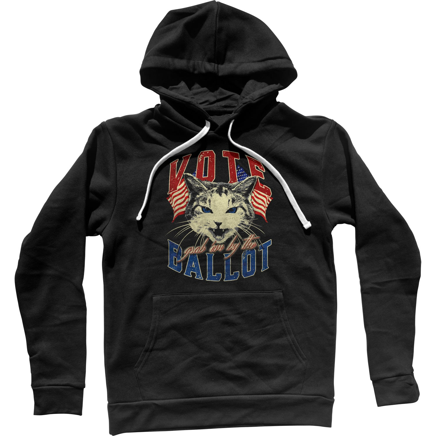 Vote! Grab Em By The Ballot Election Cat Unisex Hoodie