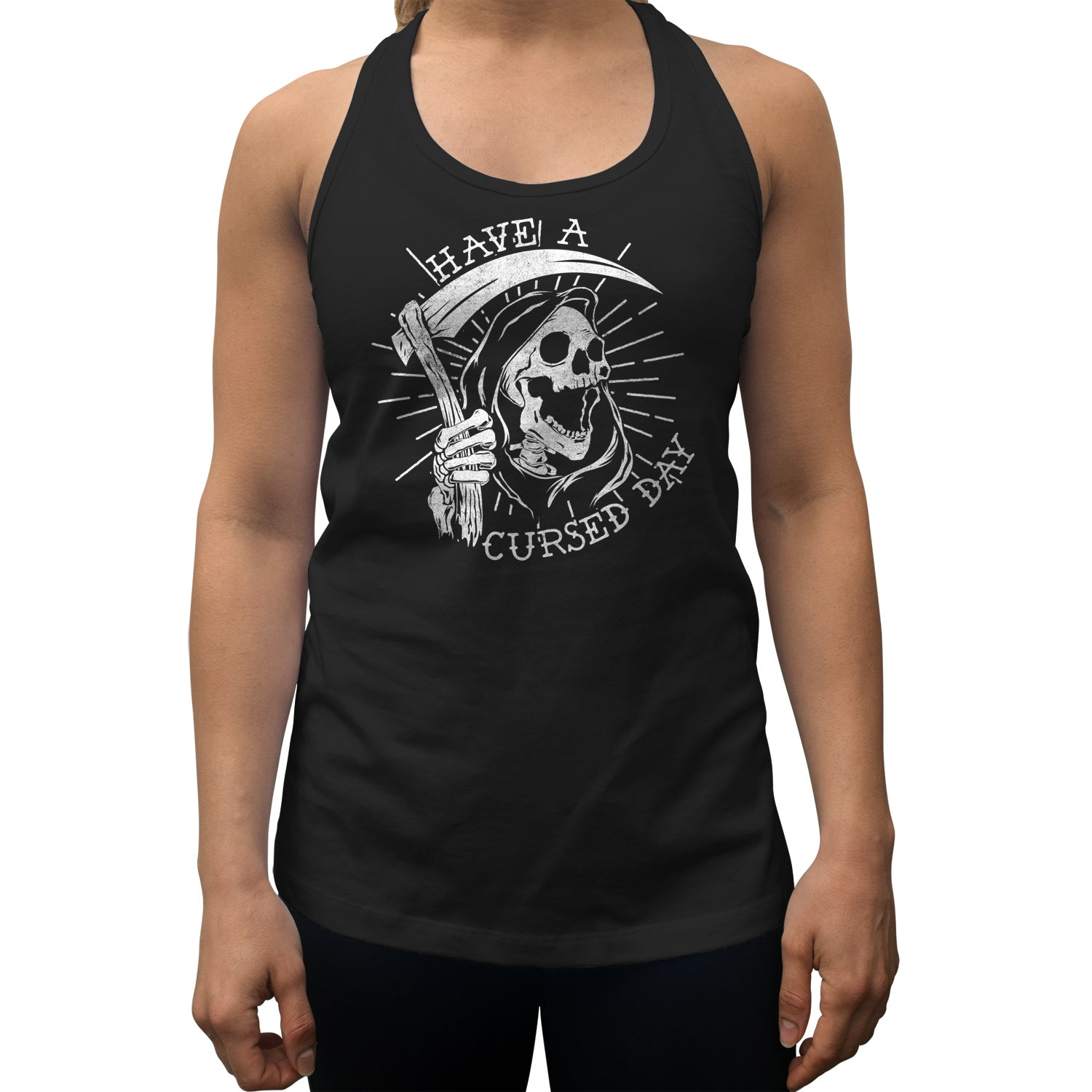Women's Have a Cursed Day Racerback Tank Top