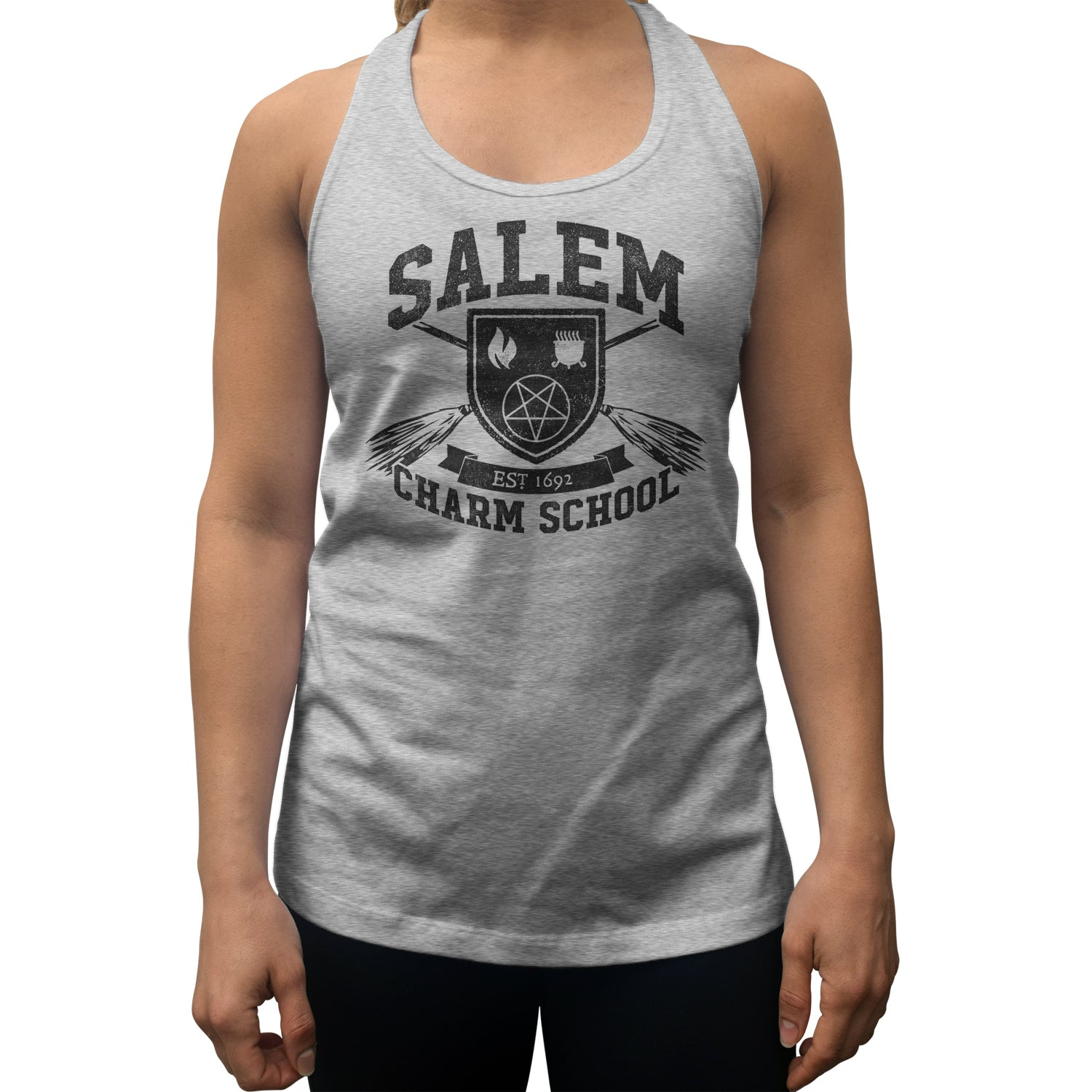 Women's Salem Charm School Racerback Tank Top