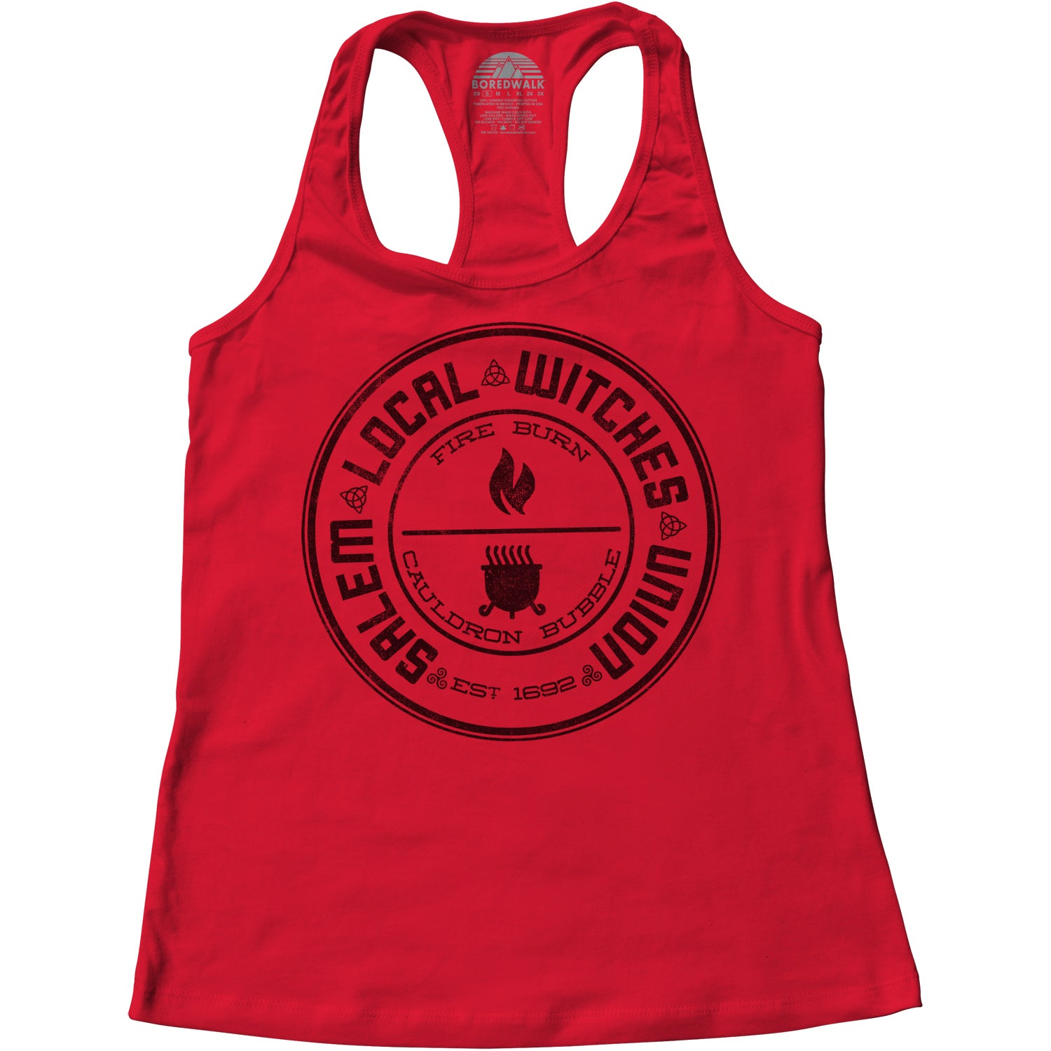 Women's Salem Local Witches Union Racerback Tank Top