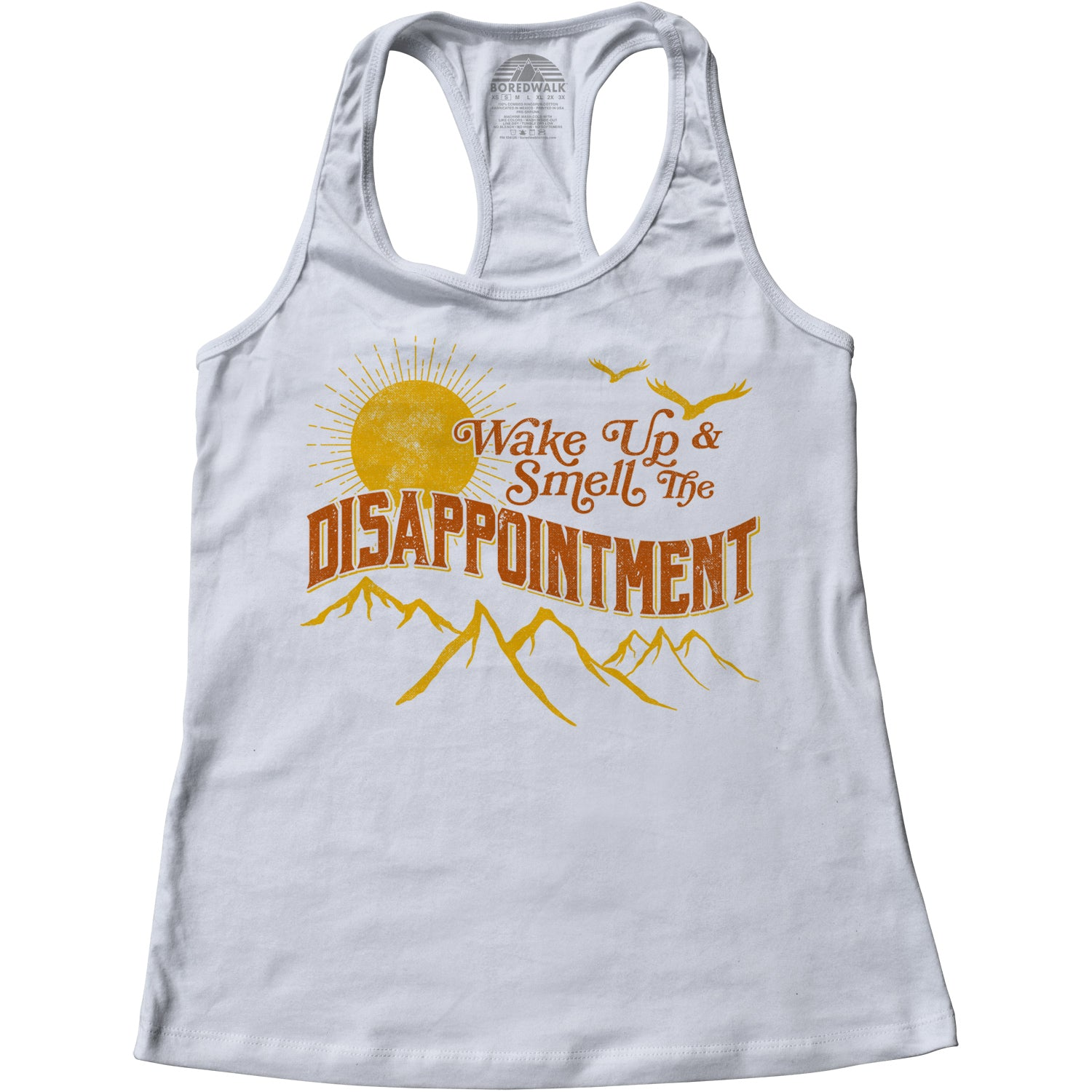 Women's Wake Up And Smell The Disappointment Racerback Tank Top