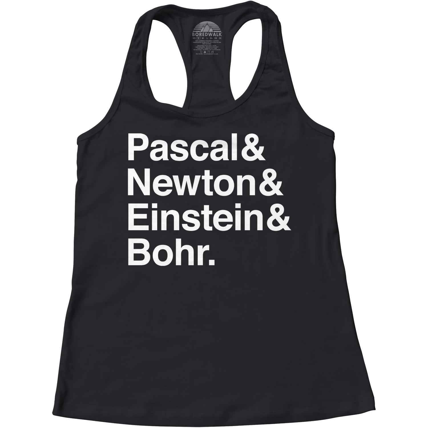Women's Pascal Newton Einstein Bohr Physicists Racerback Tank Top