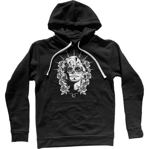 Sugar Skull Pin Up Unisex Hoodie