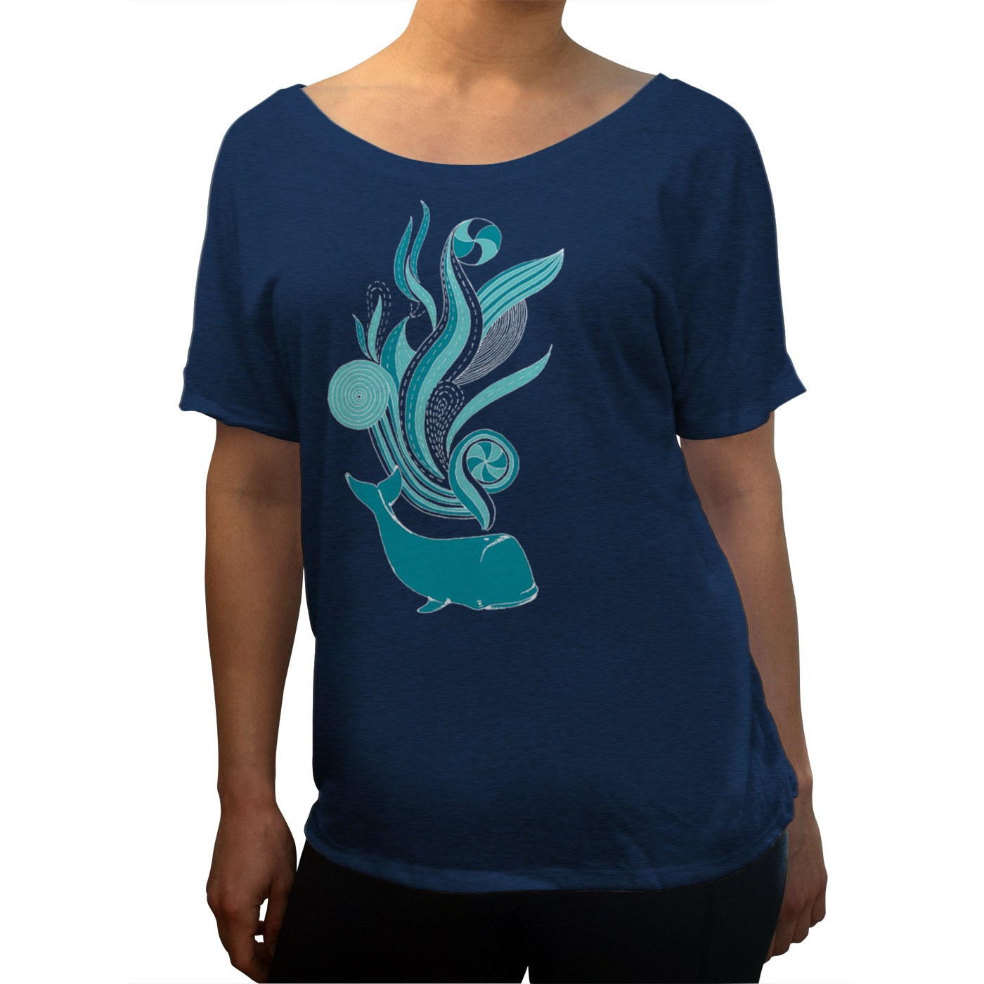 Women's Whale Trip Scoop Neck T-Shirt