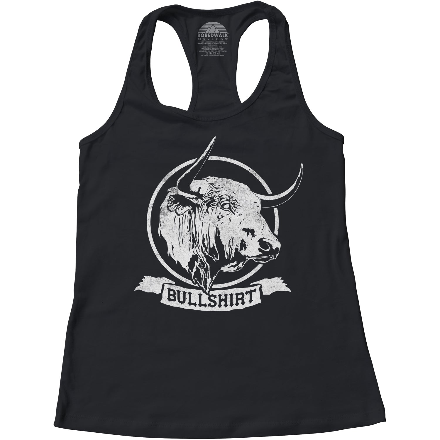 Women's Bull Shirt Racerback Tank Top