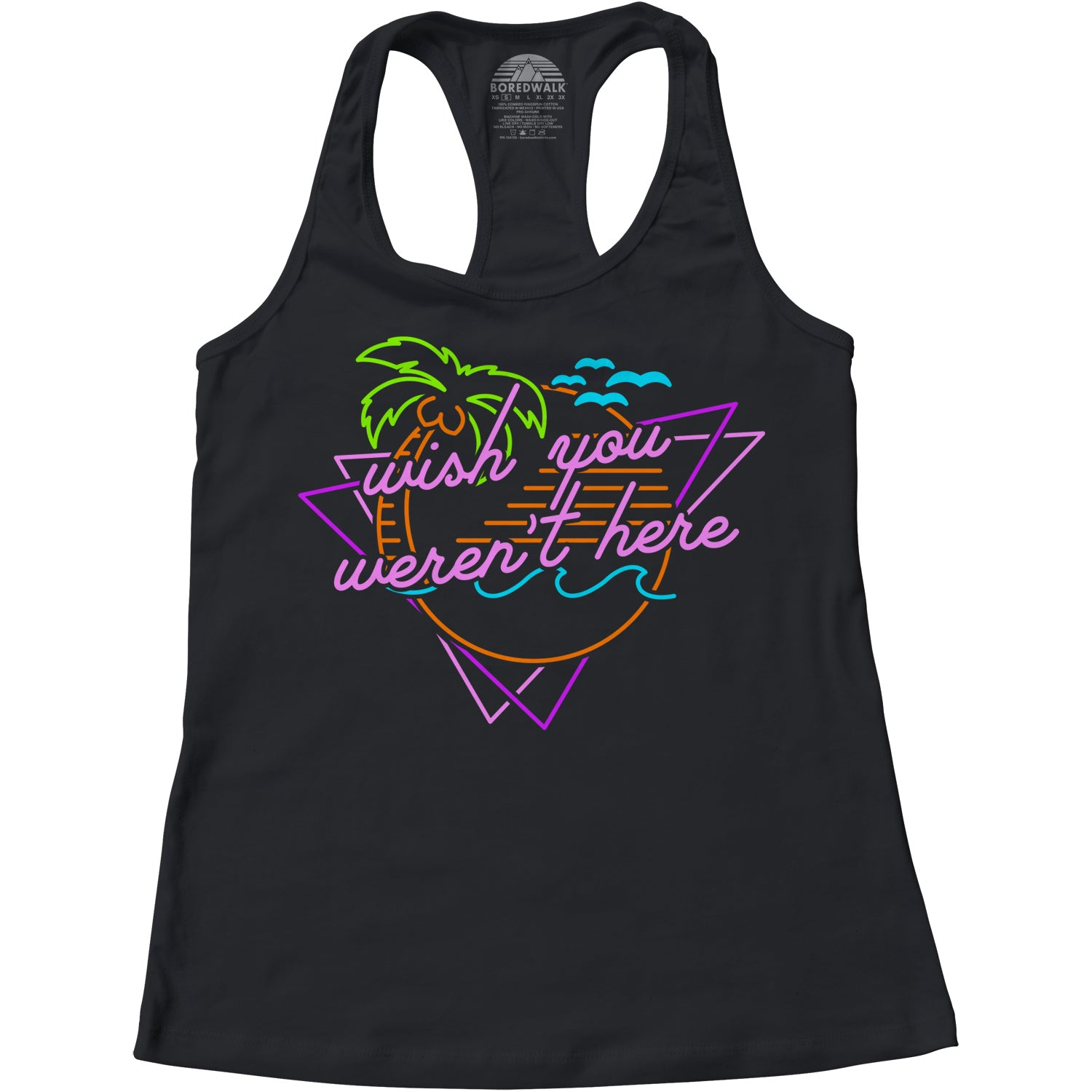 Women's Wish You Weren't Here Racerback Tank Top