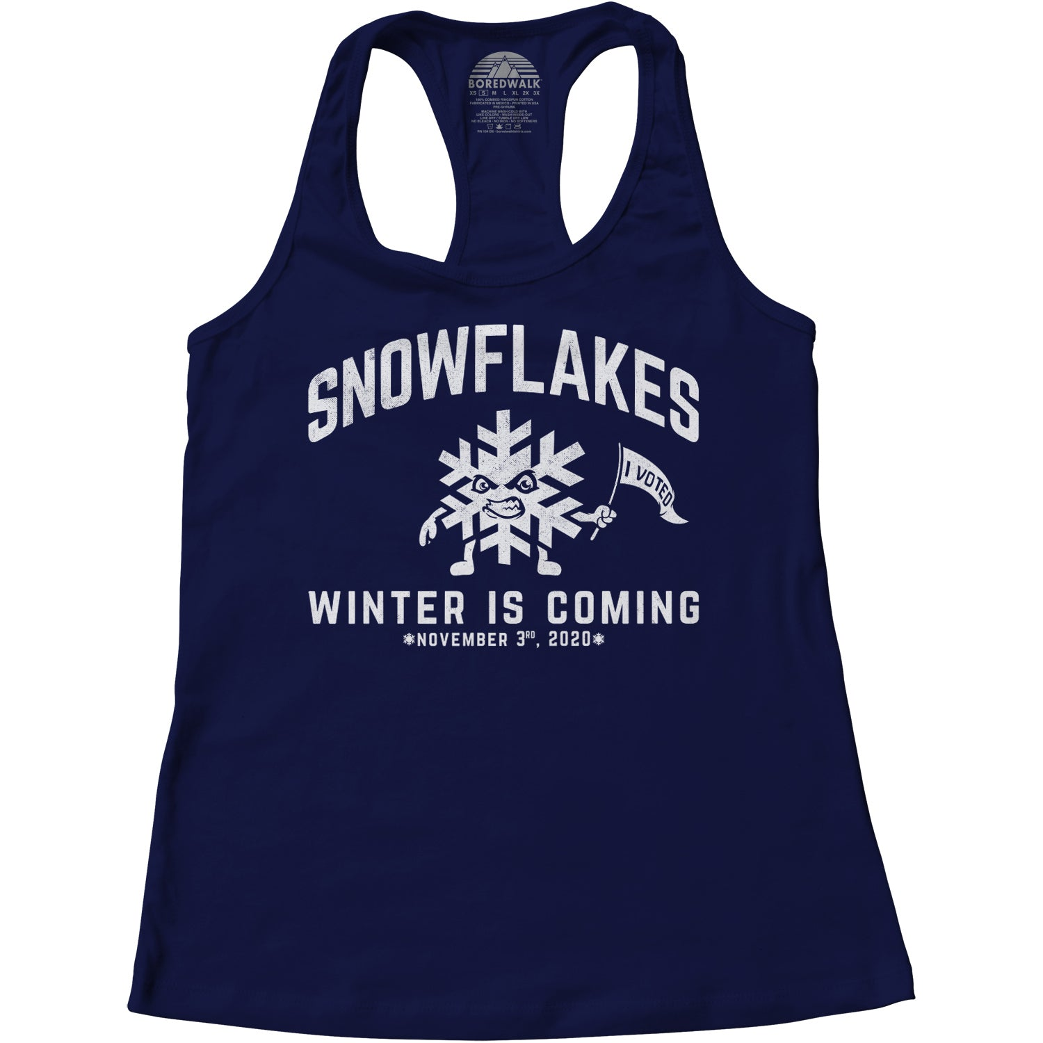 Women's Winter is Coming Snowflake Racerback Tank Top
