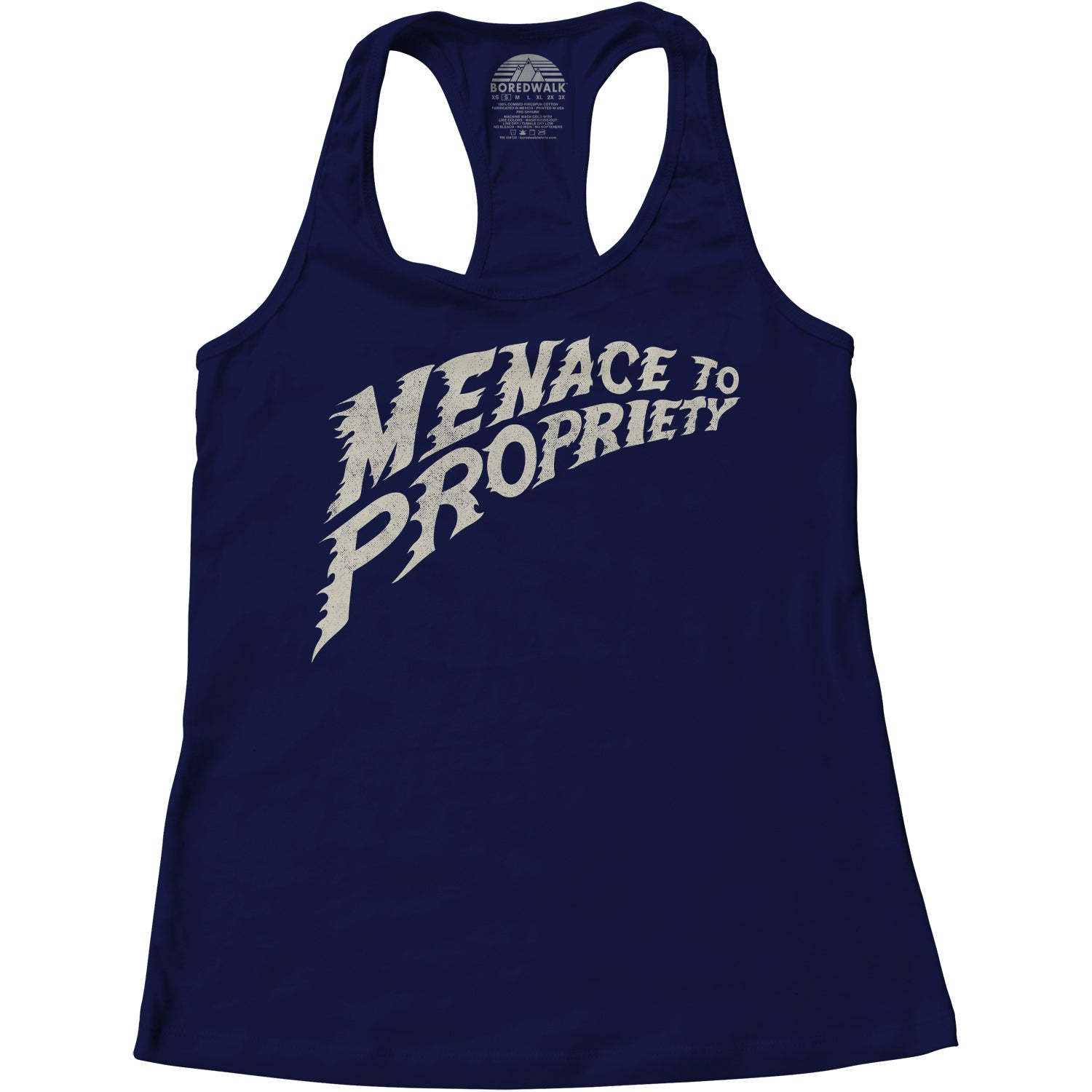 Women's Menace to Propriety Racerback Tank Top