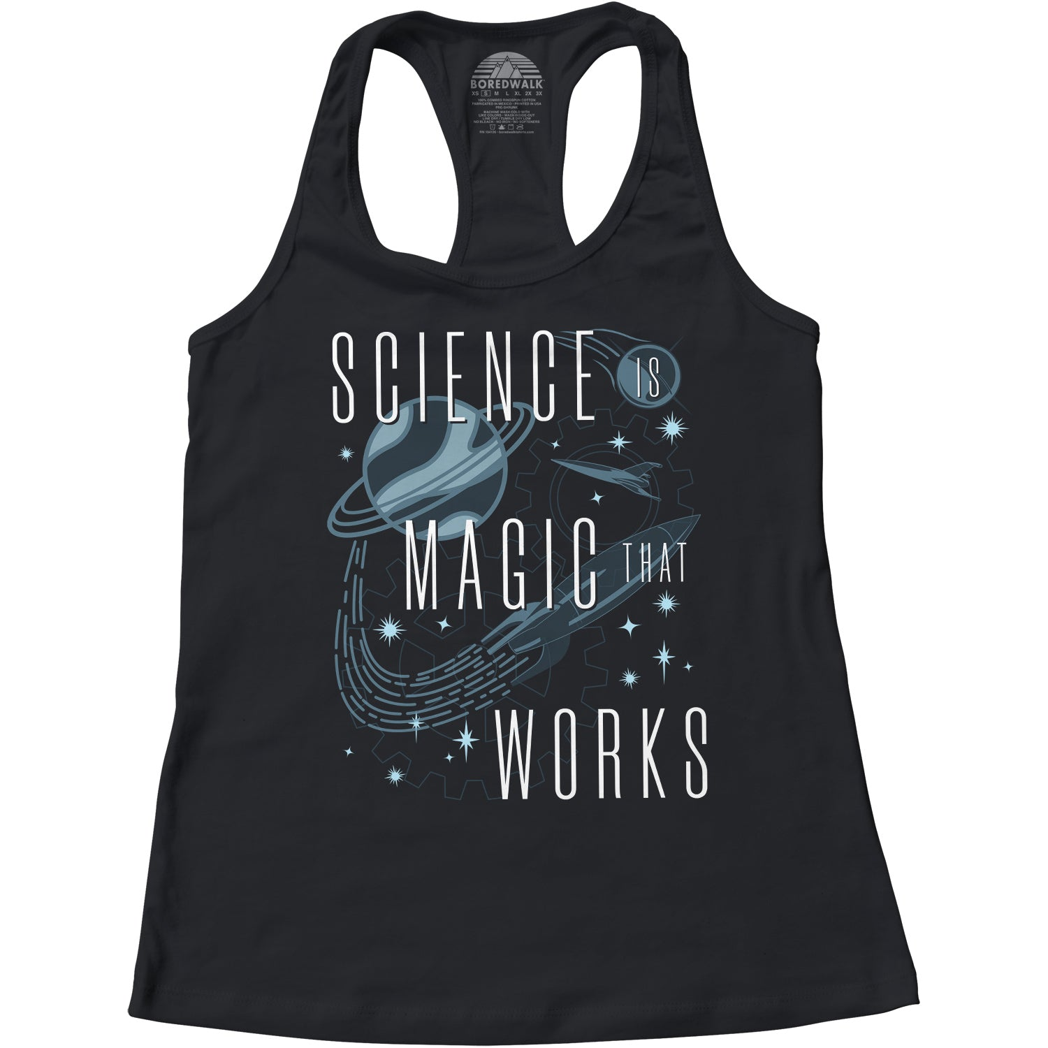 Women's Science is Magic That Works Racerback Tank Top