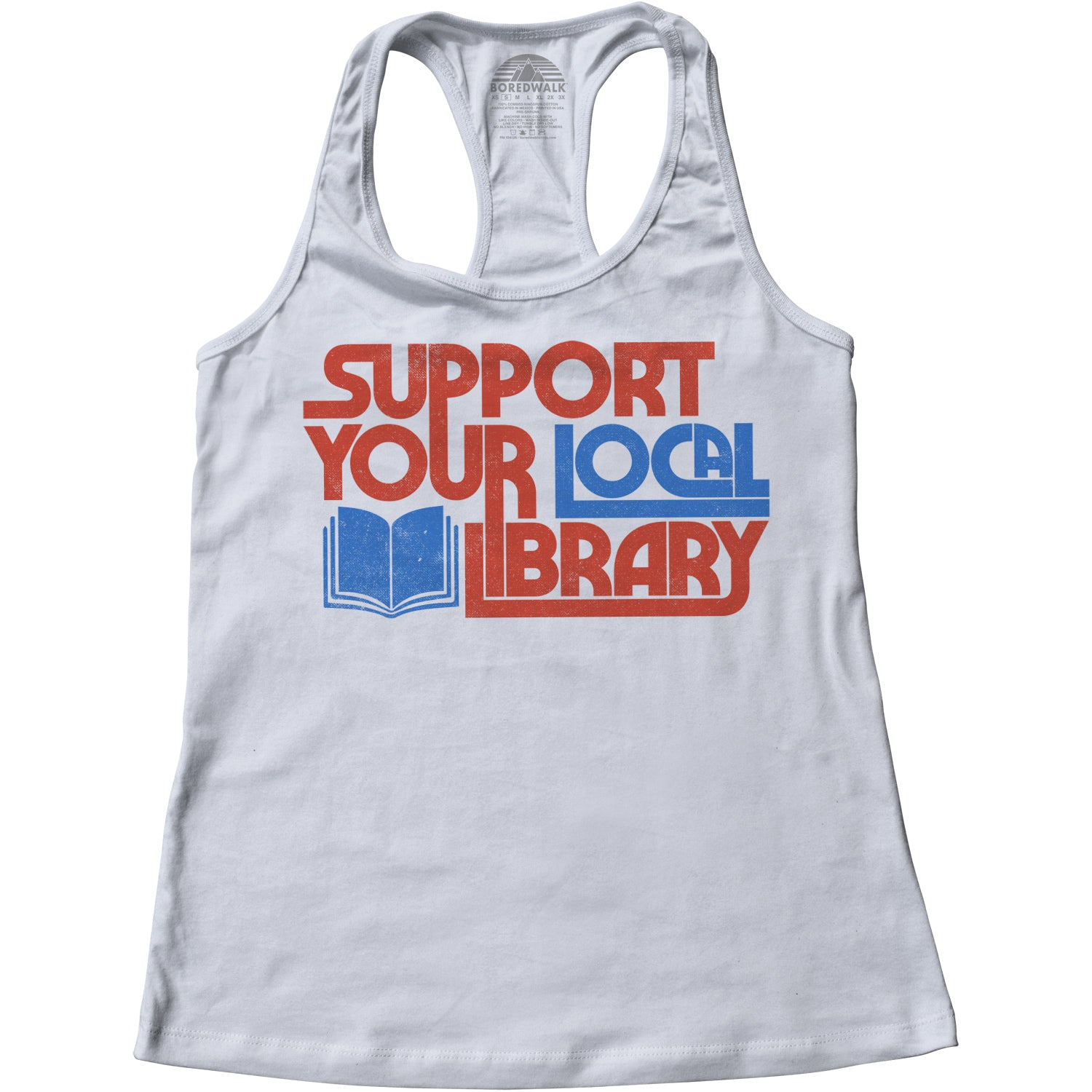 Women's Support Your Local Library Racerback Tank Top