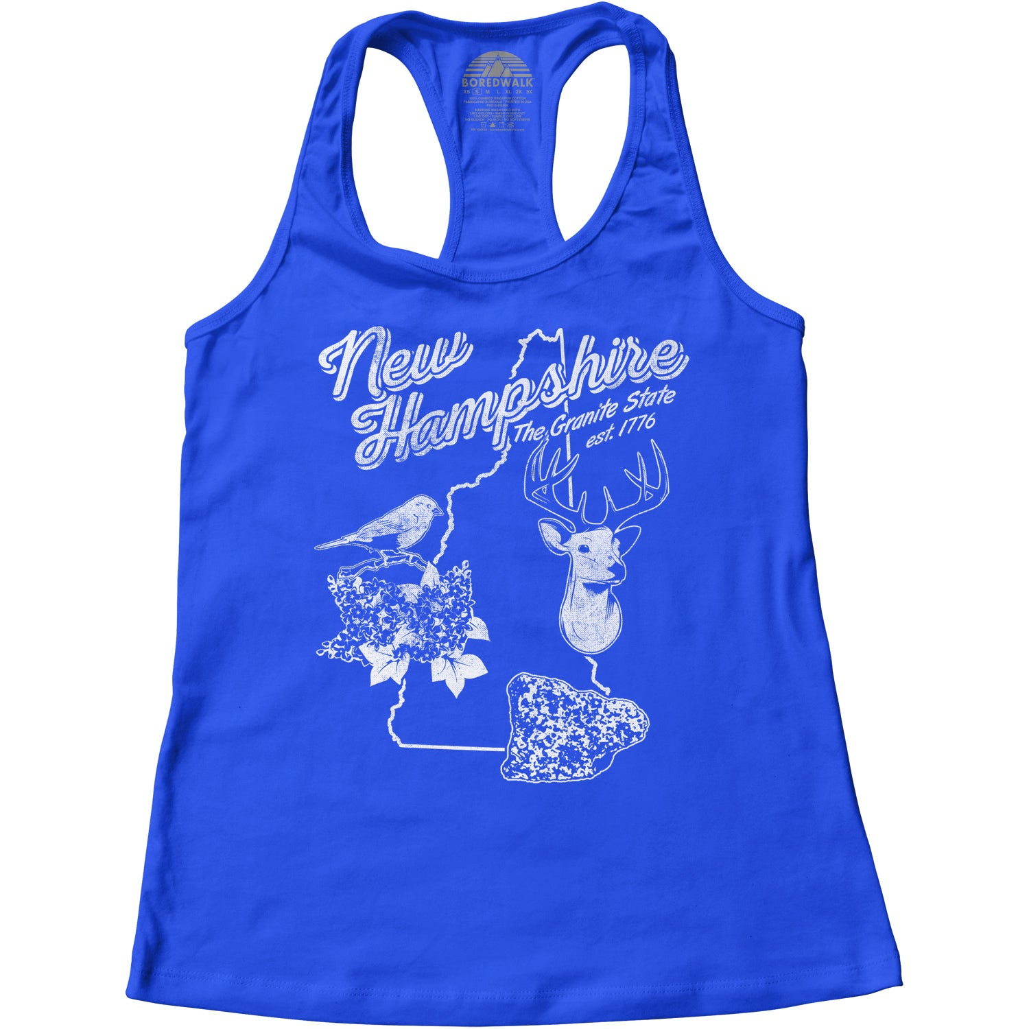 Women's Vintage New Hampshire Racerback Tank Top