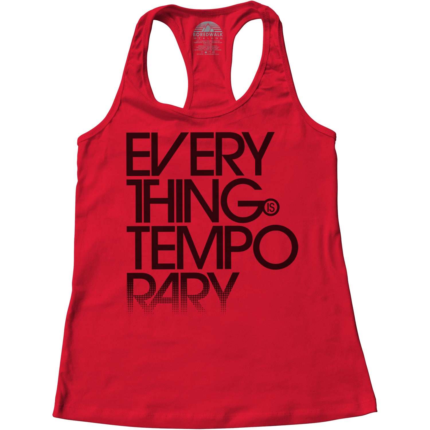 Women's Everything is Temporary Racerback Tank Top