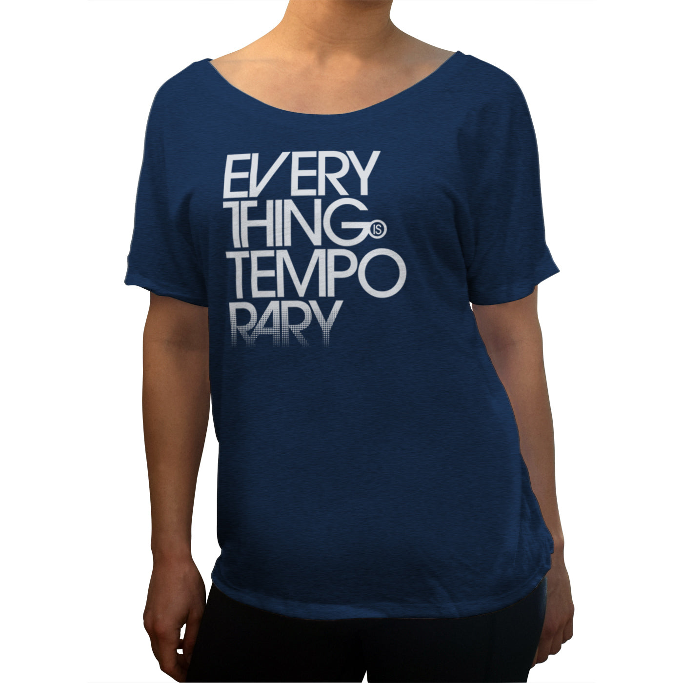 Women's Everything is Temporary Scoop Neck T-Shirt