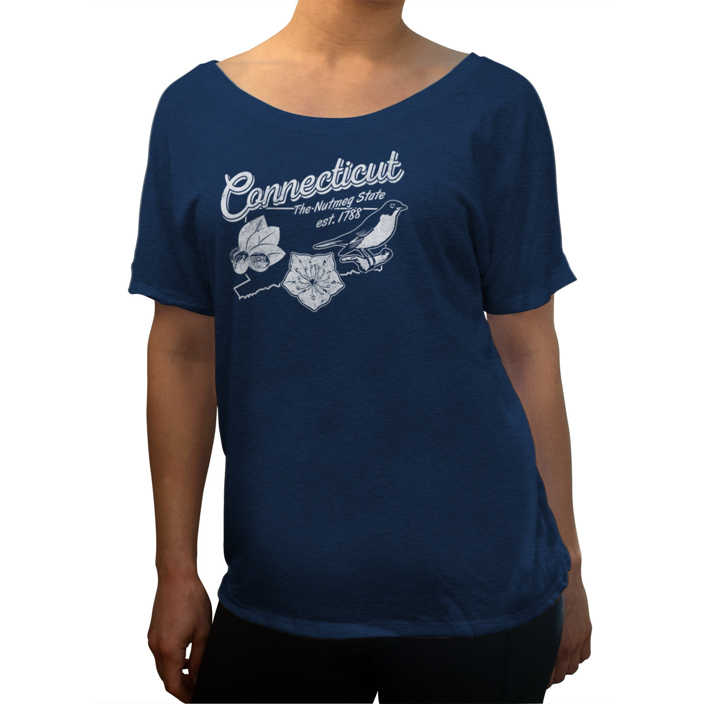 Women's Vintage Connecticut Scoop Neck T-Shirt