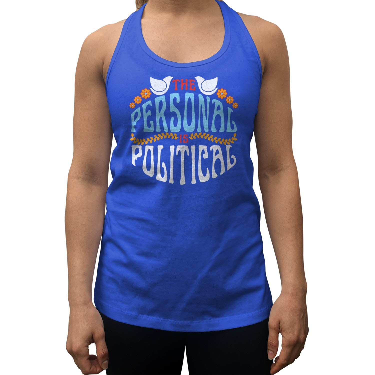 Women's The Personal is Political Racerback Tank Top