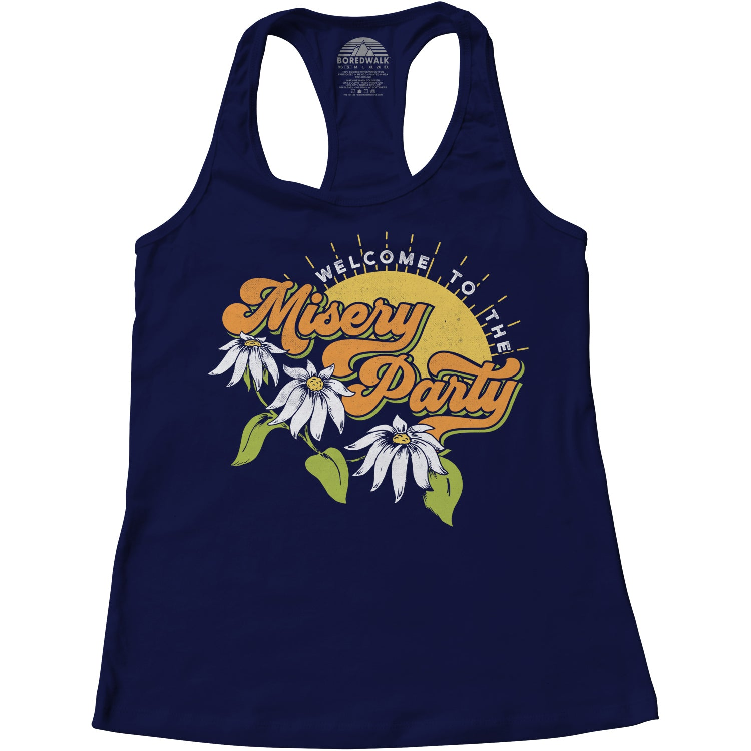 Women's Welcome To The Misery Party Racerback Tank Top