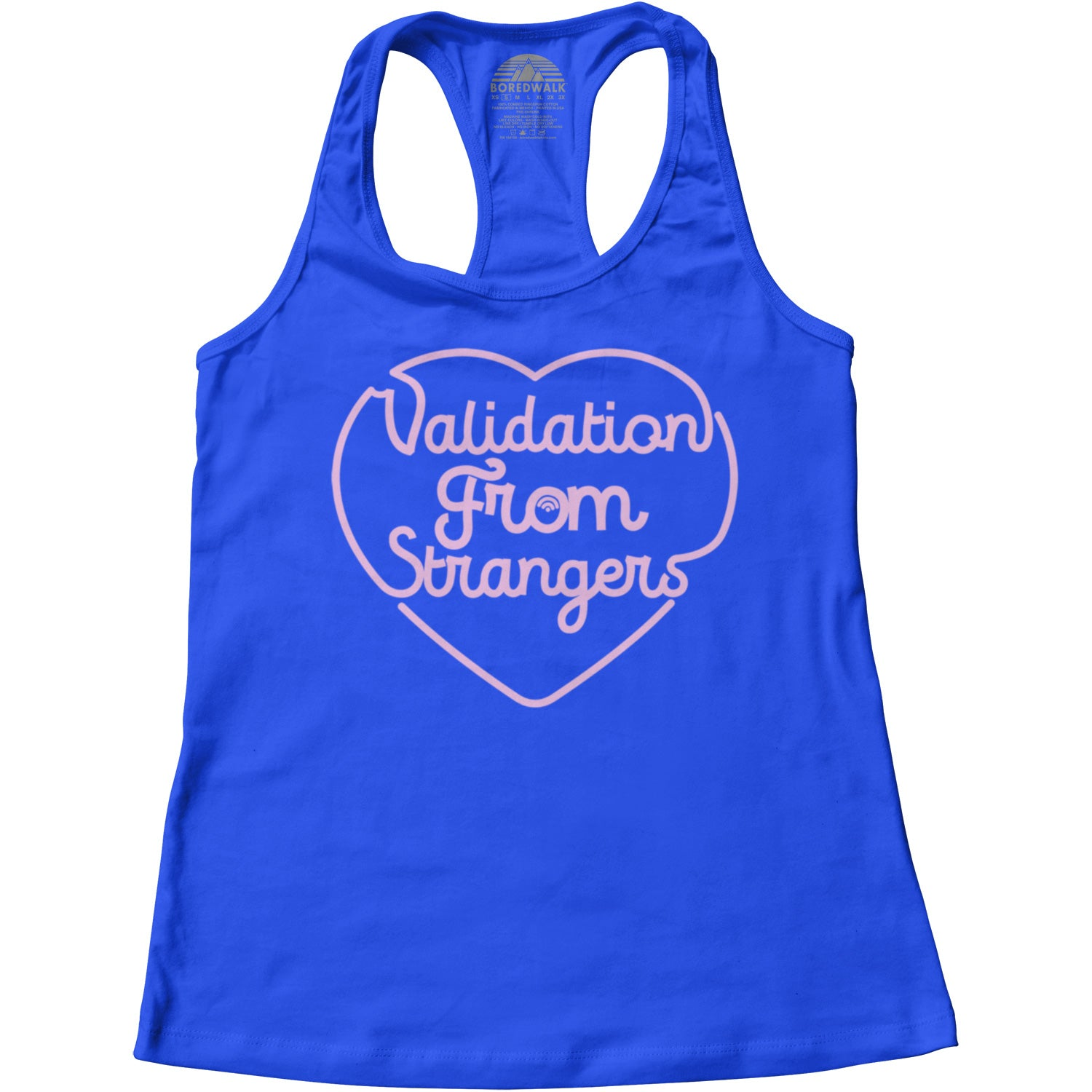 Women's Validation From Strangers Racerback Tank Top