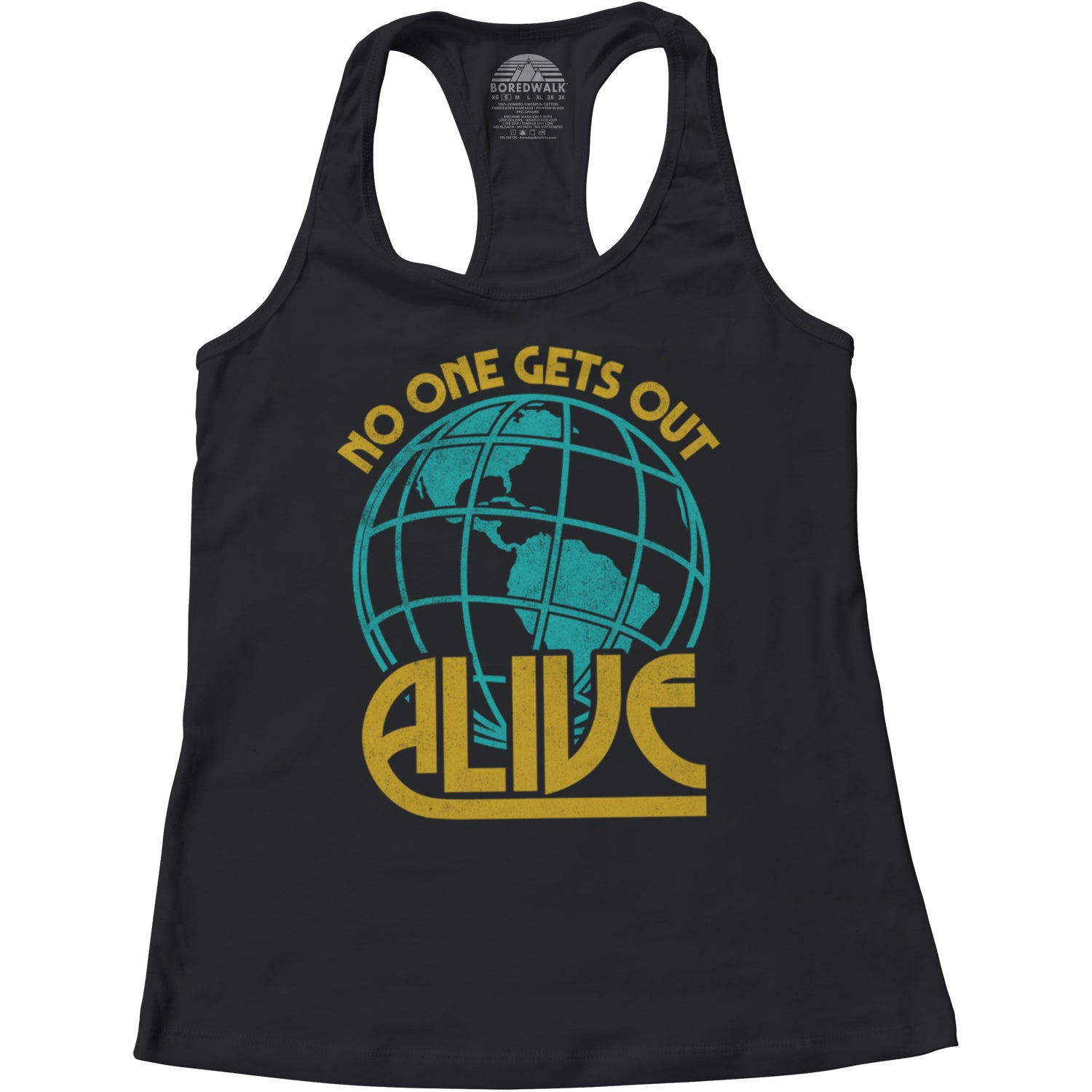 Women's No One Gets Out Alive Racerback Tank Top