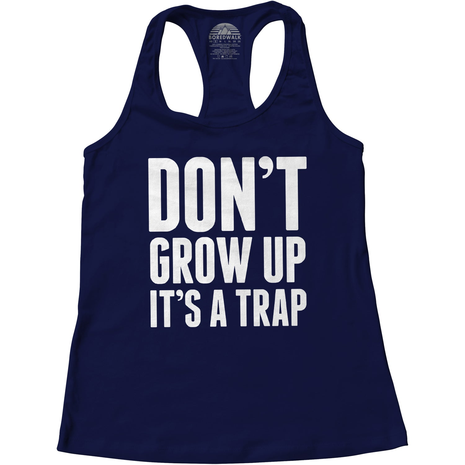 Women's Don't Grow Up It's A Trap Racerback Tank Top