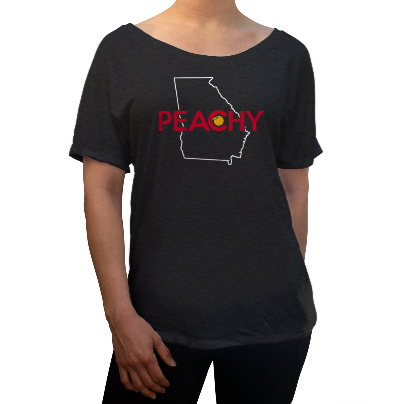 Women's Georgia is Peachy Scoop Neck T-Shirt