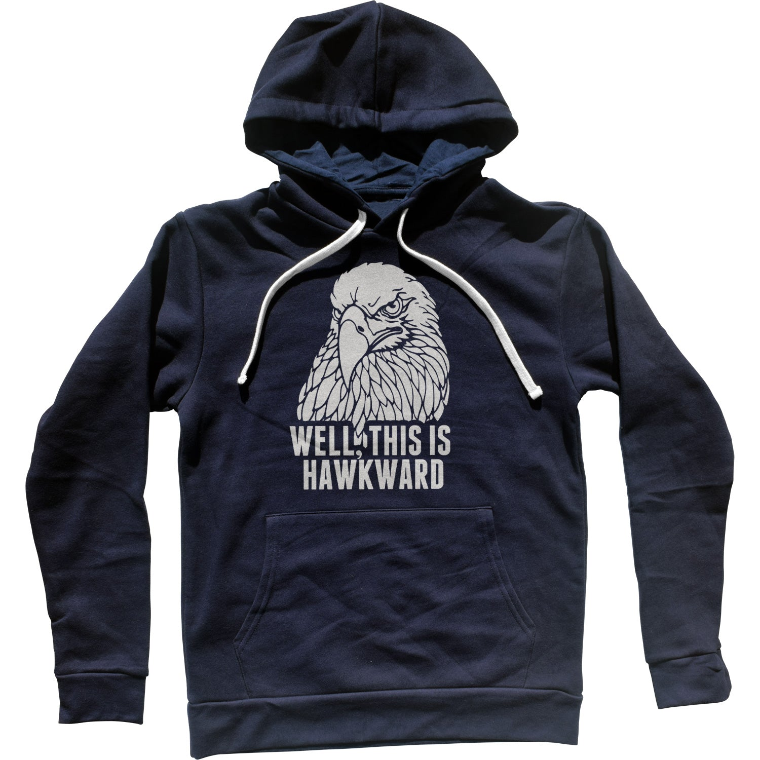 Well This Is Hawkward Funny Bird Unisex Hoodie