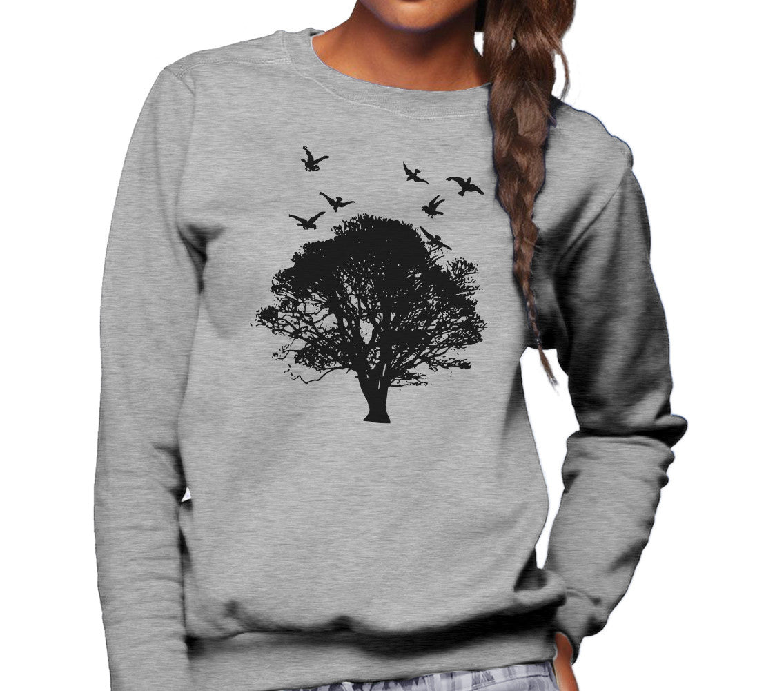 Unisex Tree And Birds Sweatshirt